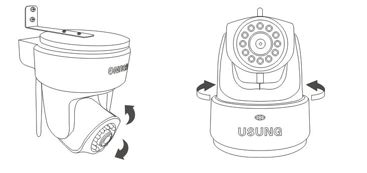 连接网络 有线连接:把双绞线(网线)一端的水晶头插入摄像头尾部的以太网卡接口上,另一端连接路由器或者交换机(注意双绞线的长度一般不能超过 100 米,否则会造成通讯不稳定或者不能通讯,如果超过 100 米,建议采用交换机中继); 无线连接:使用家庭无线局域网(WIFI)进行数据链接(监控摄像头无线连接设置,详见《优翔家庭安防监控套装初始配置及使用指南》) 。 接通电源 将电源线一端连接监控摄像头,另一端插进电源插座。请使用产品原装电源适配器,否则将有可能引起硬件损坏。 检查网络指示灯 接通电源后,摄像头开
